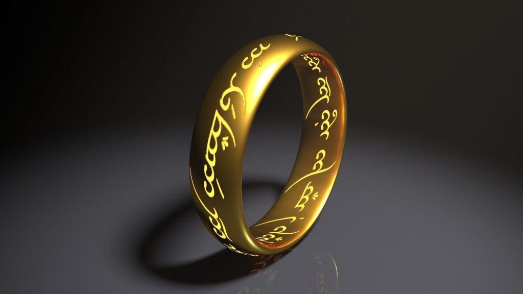 El anillo único, del Señor de los Anillos